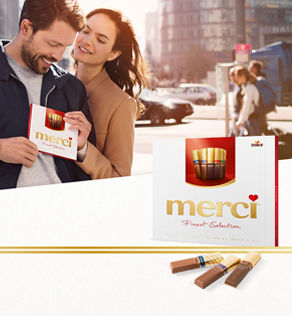 Thank you means merci. Today, in more than 100 countries in the world, people say thank you with merci.